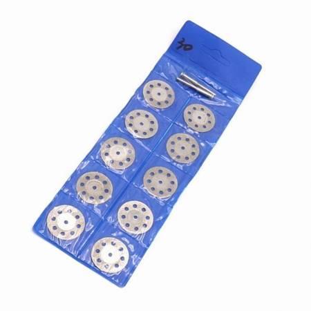 Piła tarczowa metal 10szt - szkło - kamień - 22 mm - tarcza diamentowa - Dremel - mini gumówka