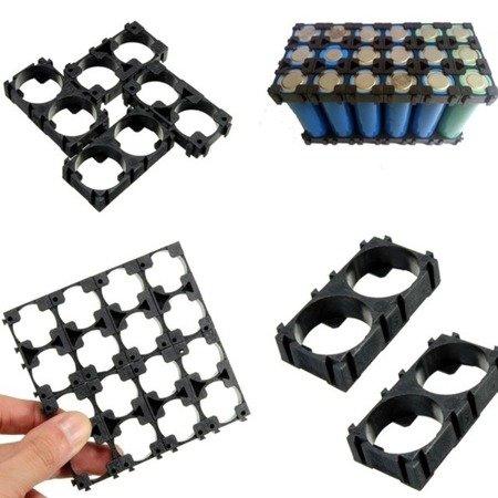 Plastikowa obudowa 1x2 do pakietowania akumulatorów Li-Ion 18650 - na 2 szt.