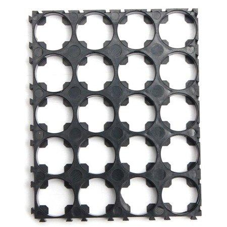 Plastikowa obudowa 5x4 do pakietowania akumulatorów Li-Ion 18650 - na 20 szt.