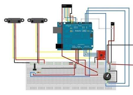 Płytka stykowa 170 pól - SYB-170 - zielona - budowa prototypów Arduino