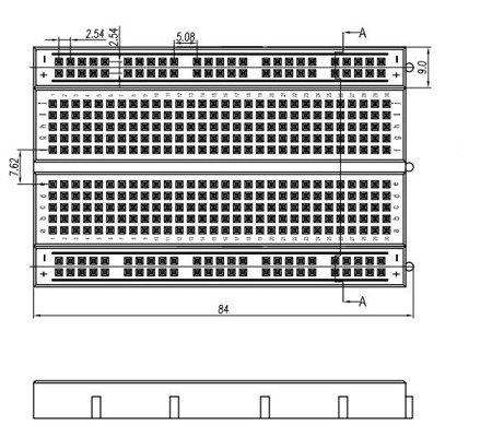 Płytka stykowa 400 pól - MR200-001 - uniwersalna płytka stykowa