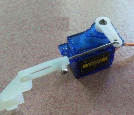 Popychacz łamany gwintowany 60mm i Snap plastikowy M1 / 21mm