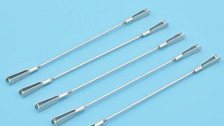 Popychacz prosty gwintowany 5cm - 2x Snap Metalowy M2 /26mm
