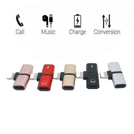 Przejściówka -Adapter - 2w1 - Lighting - Do IPHONE