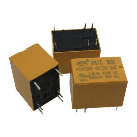 Przekaźnik 12V -  HK4100F-DC12V-SHG  - Styki 250VAC 3A - 30VDC 3A
