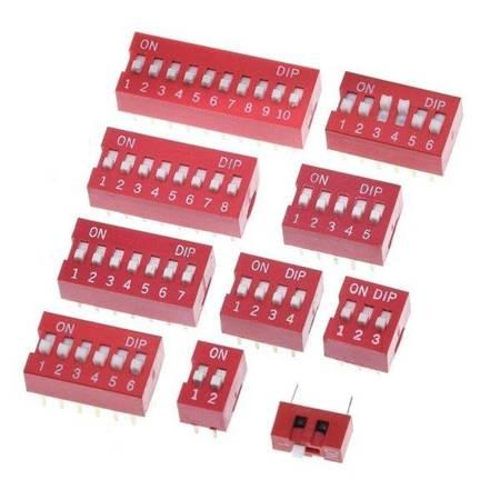 Przełącznik DIP switch 4P - przełącznik suwakowy 4-kanałowy