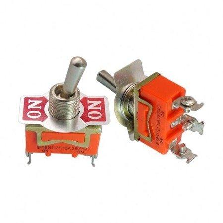 Przełącznik dźwigniowy - 15A - 250V - 2-pozycyjny - E-TEN1121 - 3 pin