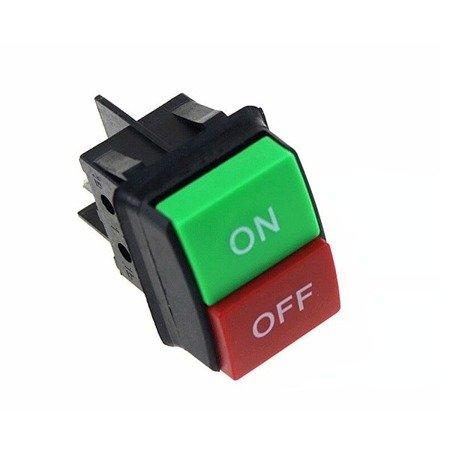 Przełącznik klawiszowy KCD4 - IP55 - przełącznik ON-OFF - 230 V - 4 PIN