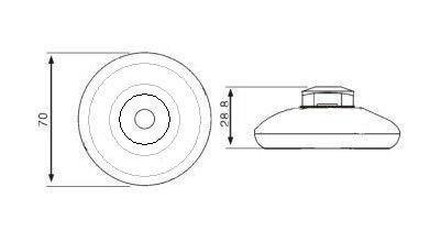 Przełącznik nożny przelotowy - jednobiegunowy - okrągły