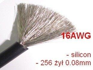 Przewód silikonowy miedziany ocynowany 16AWG - 252 żyły - 1,3mm2 - czarny