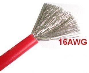 Przewód silikonowy miedziany ocynowany 16AWG - 252 żyły - 1,3mm2 - czerwony - elastyczny