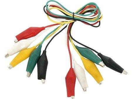 Przewody z krokodylkami 5 szt - kable 5 kolorów - 50cm - CM11N