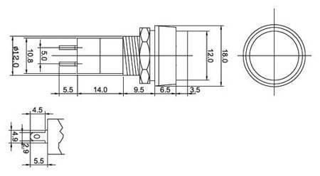 Przycisk PBS-11A - 250V 3A - monostabilny - okrągły - zielony
