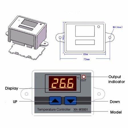 Regulator temperatury W3001 - od -50 do 110C - 220V - Termostat