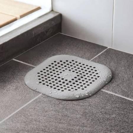 Sitko silikonowe do zlewu - kwadrat biały - Filtr do odpływu w łazience