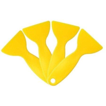 Skrobak samochodowy 125x58mm - żółty - rakla do folii karbonu naklejek