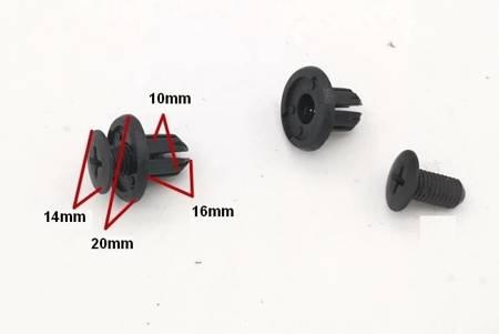 Spinki samochodowe uniwersalne Typ 400 - 10mm - Kołek tapicerski - nit - 10szt