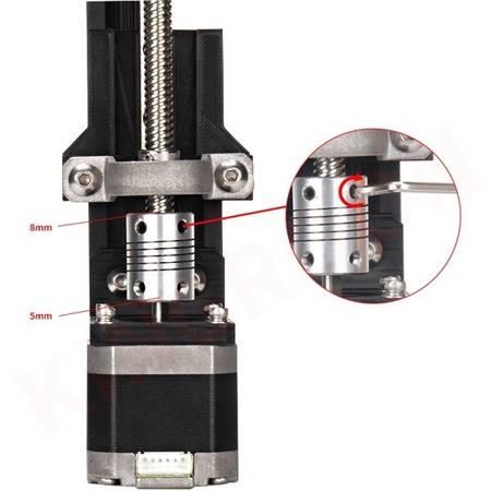 Sprzęgło elastyczne 5/5 mm - sprzęgło aluminiowe do drukarki 3D