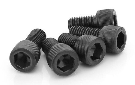 Śruba Socket M3x16 - 10 szt - pod klucz imbusowy - moletowana główka