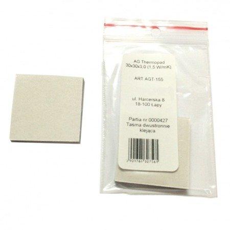 Taśma termoprzewodząca AG 30x30 1,5W - termopad