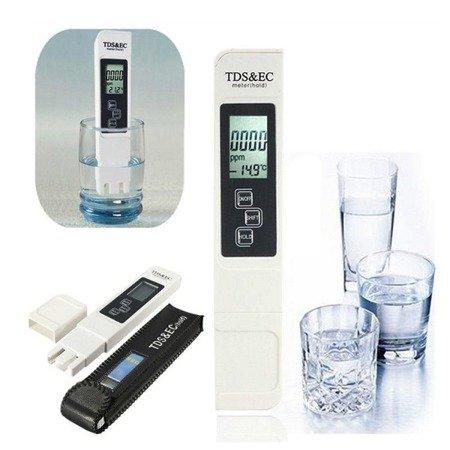 Tester jakości wody - 3w1 TDS&EC - miernik czystości - przewodności - termometr