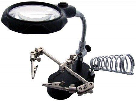 Trzecia Ręka z Lupą - podświetlenie LED - ZD-10MB