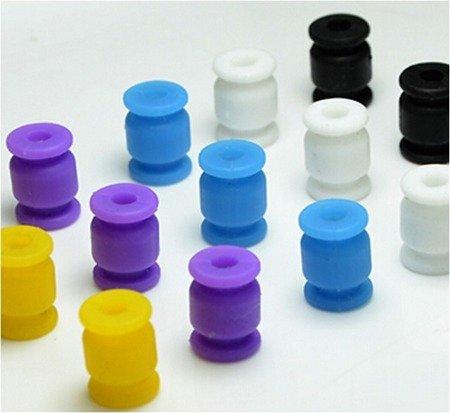 Wibroizolator 12mm/8mm - silikonowy - czarny - tłumik drgań, damper, amortyzator - 1 szt