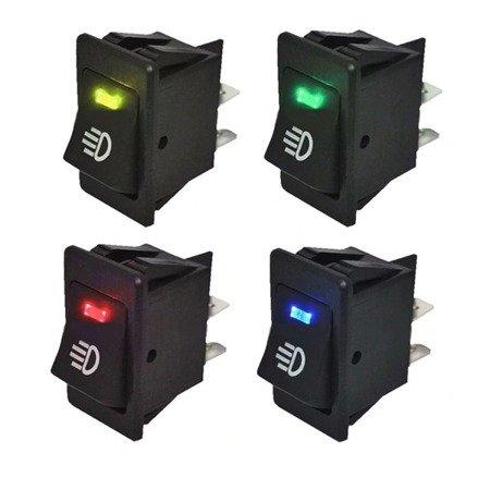Włącznik świateł samochodowych - przeciwmgielnych - drogowych - uniwersalny przełącznik - Blue