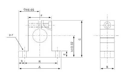 Wspornik końcowy wałka liniowego SK12 CNC - SH12A - SK-12 - SK12UU