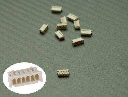 Wtyk DF13 Micro JST 1.25mm - osłonka - 6 pinów - 10 szt - Molex do APM, PX4, GPS i inne