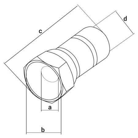 """Wtyk SAT """"F"""" RG6 / 20mm/6.8mm HQ z uszczelką - złącze antenowe"""