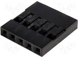 Wtyk kołkowy 2,54mm - 5 pinów - 10 szt - osłonka - do układów elektronicznych