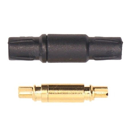 Wtyki GOLD 3,5mm - AMASS z osłonką - para - konektory Gold - czarny