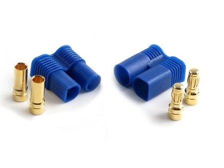 Wtyki GOLD - 3,5mm EC3 z osłonką  - żeński i meski - 2 pary