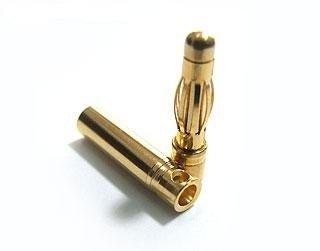 Wtyki GOLD - 4mm - para - konektory -złacza prądowe