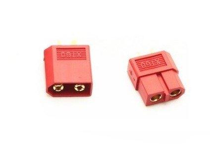 Wtyki XT60 - czerwony (red) - kompletne złącze XT60