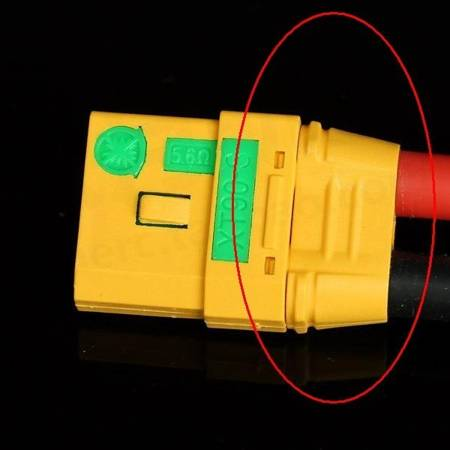 Wtyki XT90-S Anti Spark - złącze wysoko-prądowe 90A - nieiskrzące - AMASS