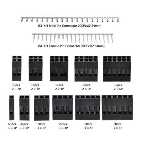 Zestaw obudów czarnych z pinami - 620szt - wtyk kołkowy + PIN męski i żeński