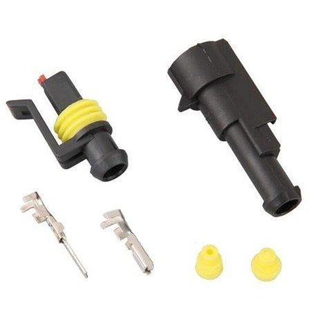 Złącze Superseal 1-PIN komplet - wtyk+gniazdo 1PIN - złącze samochodowe - hermetyczne - szczelne