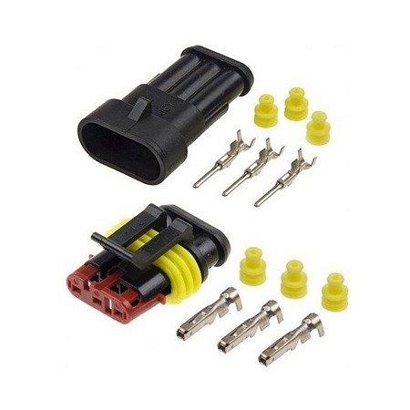Złącze Superseal 3 PIN komplet - wtyk+gniazdo 3PIN - złącze samochodowe - hermetyczne - szczelne