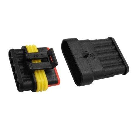Złącze Superseal 5-PIN komplet - wtyk+gniazdo 5PIN - złącze samochodowe - hermetyczne - szczelne
