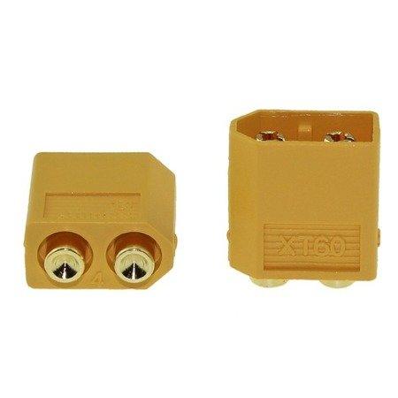 Złącze XT60-PB - wtyk + gniazdo proste - kompletne złącze AMASS